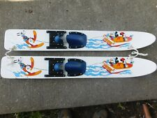 Rare Mickey & Minnie Mouse In Speedboat Pulling Pluto Trainer Wood Waterskis