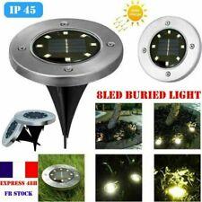 8-LED Lampe solaire LED lumière rechargeable jardin éclairage extérieur IP65