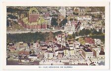 Vue Aerienne de Quebec - Aerial View, QUEBEC CITY Vintage Postcard