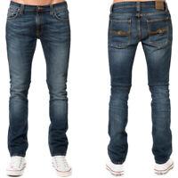 neu Nudie Herren Slim Skinny Fit Röhren Jeans | Tube Tom Blue Nights