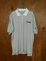 Adidas CLIMALITE Golf Mens Size 2XL Short Sleeve Polo Striped Shirt