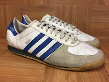 Vintage🔥 Adidas Rom Made In USA White Leather Trainers Sz 12 Men's Old Shoes LE