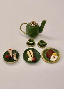 Dollhouse Miniature 1:16 Food, Lundby Size, VINTAGE 100% Hand-Made Clay Dessert