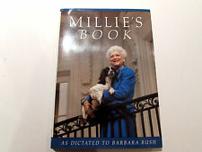 Millie's Book, by Barbara Bush - 1990 - Signed, 1st Ed., 3rd Ptg. Hardcover Book