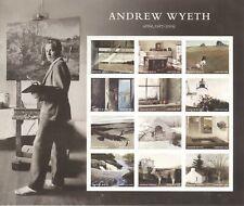USPS Sheet of Stamps Andrew Wyeth Fine Artist Art Painting Artwork Pane MNH 2016