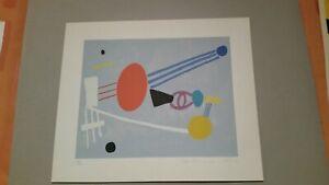 Farblitho von Max Ackermann handsigniert 1950-1970