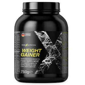 (750g) WEIGHT GAINER Weightgainer Mass Gainer Hard Gainer by baseXnutrition