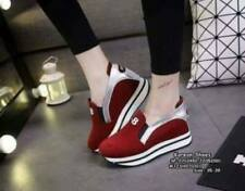 Korean Wadge Shoes Y-8 (Red - Size 36)