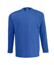 T-SHIRT FRUIT OF THE LOOM VALUEWEIGHT MANICA LUNGA 165 gr 100%25 COTONE MAGLIETTA