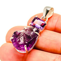 """Amethyst 925 Sterling Silver Pendant 1 3/4"""" Ana Co Jewelry P752442"""