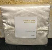 Hudson Park Collection Luxe Basic FULL / QUEEN Duvet Cover Ivory $330 J