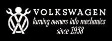 Owners into Mechanics VINYL STICKER DECAL VW VOLKSWAGEN BUG BUS GHIA NOTCH Type3
