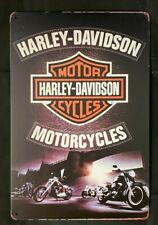 New ListingHarley-Davidson Motorcycle Vintage Antique Collectible Tin Metal Sign Wall Decor