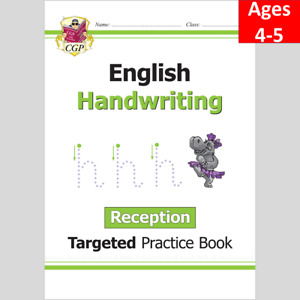 Ages 4-5 English Targeted Practice Book Handwriting  Reception CGP
