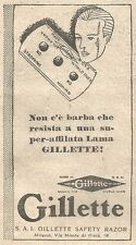 W2295 GILLETTE Safety Razor - Pubblicità del 1930 - Old advertising
