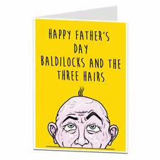 Funny Happy Fathers Day Card For Dad Rude Baldilocks Joke