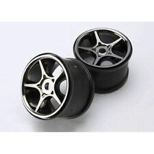 "Traxxas TRA5372X Black-Chrome Gemini Wheels(2) 3.8"" 17mm Hub: 1/10 Revo E/T-Maxx"