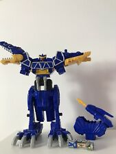 Power Rangers Dino Charge Blue Spinosaurus Megazord + #00 Charger - Complete!