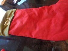 Pottery Barn Velvet stocking large Christmas stocking mono Nick New