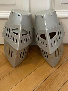 Ritterhelm aus Pappe für Kinder (2 Stück), Ritterrüstung Kopfbedeckung
