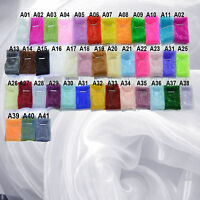 Axx (Sell Per Meter) Shiny Mirror Organza Twinkle Crystal Sheer Fabric Material