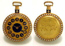 English 18K, Enamel & Pearl Pocket Watch by Thomas Brown for the Chinese Market