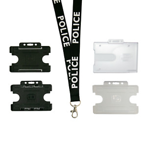 Police Lanyard Neckstrap & ID Badge Cardholder | Choose Cardholders
