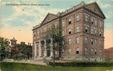 Akron Ohio~City Hospital And Nurses Home~1910 Postcard