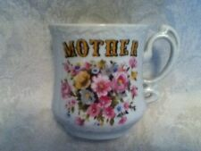 VINTAGE Victorian MOTHERS DAY MOM Ceramic Floral Pink Blue Yellow Coffee Tea Cup