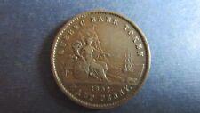 Canada Quebec Bank Token Half Penny 1852 in ss- (N98)