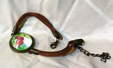 Colorful Pinto GLASS DOME PINTO HORSE BRACELET Brown Suede Sides Simple and FUN!