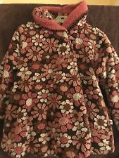 Girls Corkey Coat, Pink Flowers, hooded, Adorable Size 7