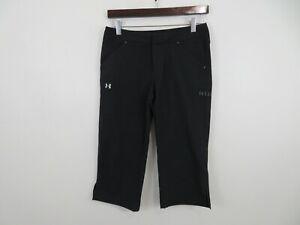 Under Armour Performance Athletic Capris Pants Golf Black Womens Size 4