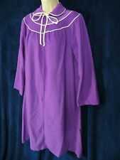 60's 70's Vintage Purple Fleece Zip Up Mod Dolly House Robe Classics Of Cali M