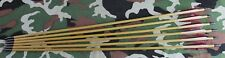 Arrows traditional Wood/Cedar for recurve longbows 40 to 60lbs 6 pack NEW