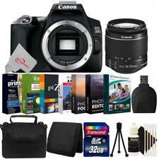 Canon Eos 250D Rebel Sl3 24.1Mp Dslr Camera + 18-55mm Lens Complete Bundle