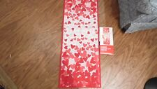 """Valentine Table Runner, tapestry, 13"""" X 36"""", Has White Fabric On The Back,"""