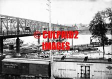 OREGON PHOTO 1900 Portland OR View Steel Bridge St Cars
