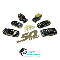 Johnny Lightning 50TH BLACK & GOLD Import Cars Assortment 1:64 Exclusives 1/2400