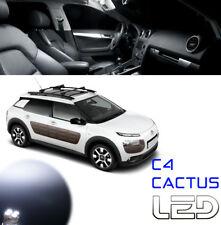 Citroen C4 CACTUS 5 bombillas LED Blanco luz techo Maletero Caja guantes Suelos