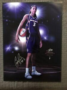 HUGE SIGNED Candace Parker Poster Adidas Official WNBA Vols Sparks Uconn Taurasi
