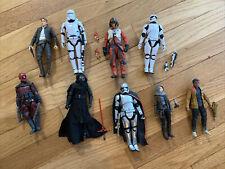 Star Wars Black Series 6 Inch Lot Loose W All Accessories Finn, Kylo, Poe, Han