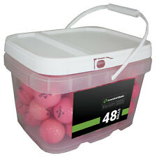 48 Callaway Supersoft Pink Mint Used Golf Balls AAAAA *In a Free Bucket!*