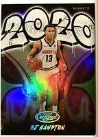 2020 Panini Certified RJ HAMPTON RC Graffiti Insert Rookie Card #7 Nuggets