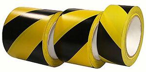PVC Bodenmarkierungsband Warnmarkierung Gelb Schwarz 50-75-100mm x 33m Klebeband