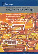 01449MB Mercedes Aktuelle Marktmitteilungen Klimaanlage ital. 1988 2/88 Prospekt