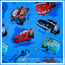 BonEful Fabric Cotton Disney CAR Letter Baby Blue Red Boy B&W Cop Police L SCRAP