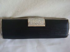 BLING RHINESTONES CHAIN EVENING CLUTCH/SHOULDER/HAND BAG NEW BLACK