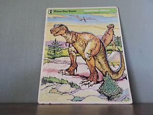Rainbow Works Frame Tray Puzzle Prehistoric Animals Dinosaur T Tyrannosaurus Rex