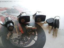 KIT SERRATURE PORTE DX SX & COFANO + CILINDRETTO + 4 CHIAVI FIAT PANDA FINO 2003